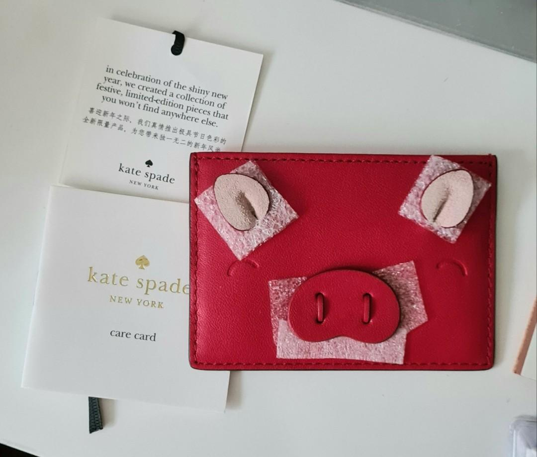 Kate Spade Year of the Pig Card Case