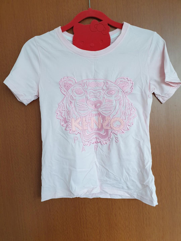 Kenzo Embroid Logo Pink Top