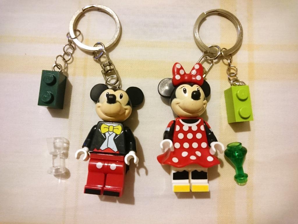 LEGO Key Chain / Gantungan Kunci Mickey dan Minnie