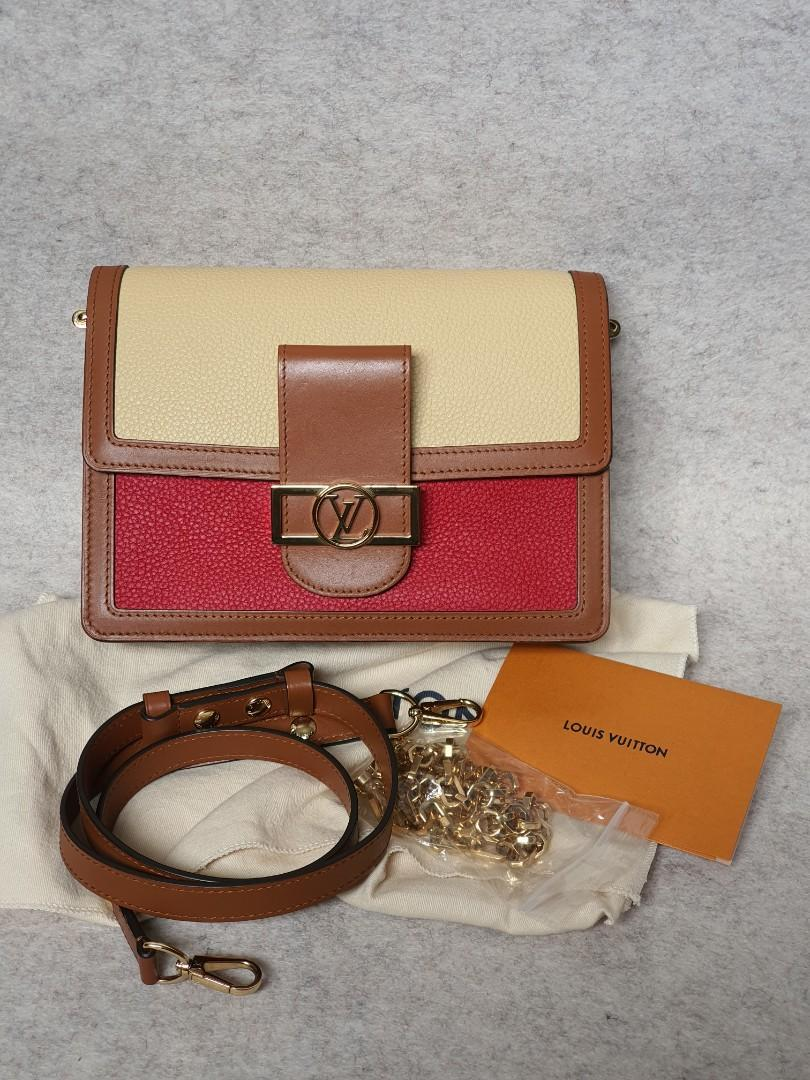 Louis vuitton lv dauphine mm taurillon leather