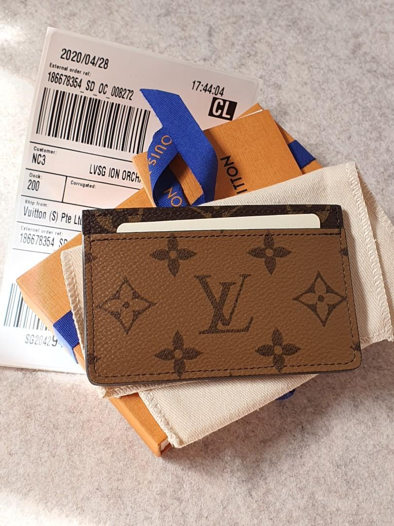 Louis Vuitton lv reverse monogram card holder