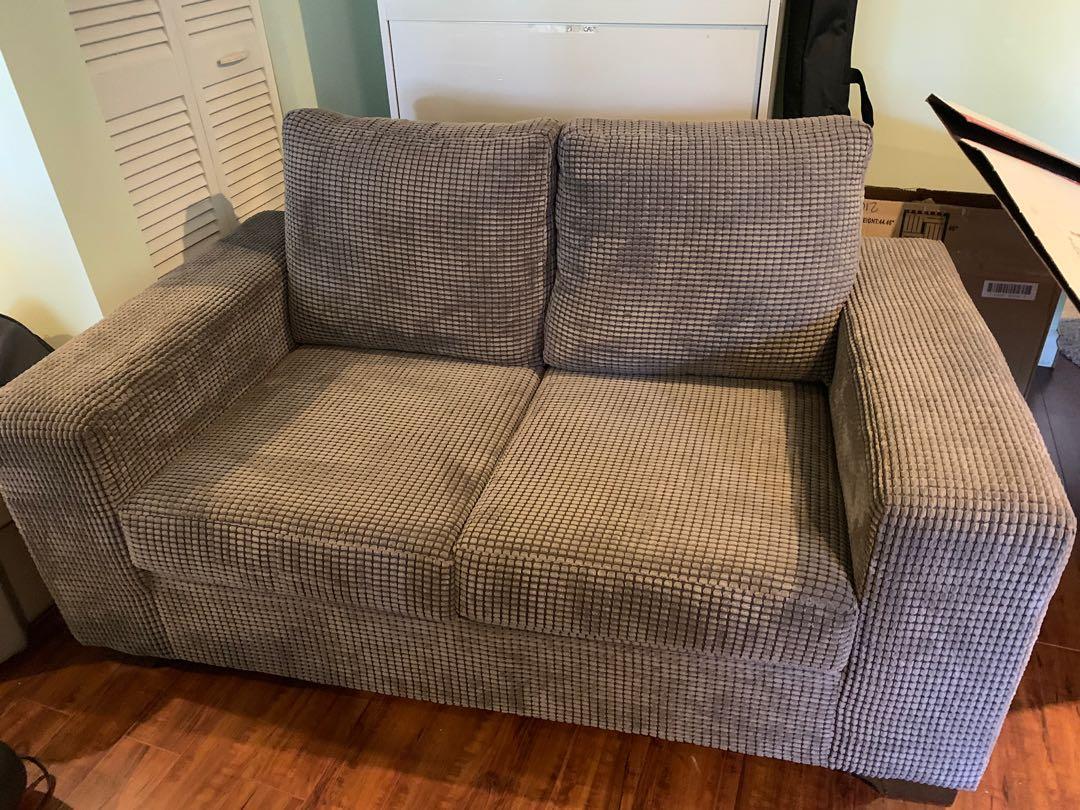 Love seat & single sofa chair