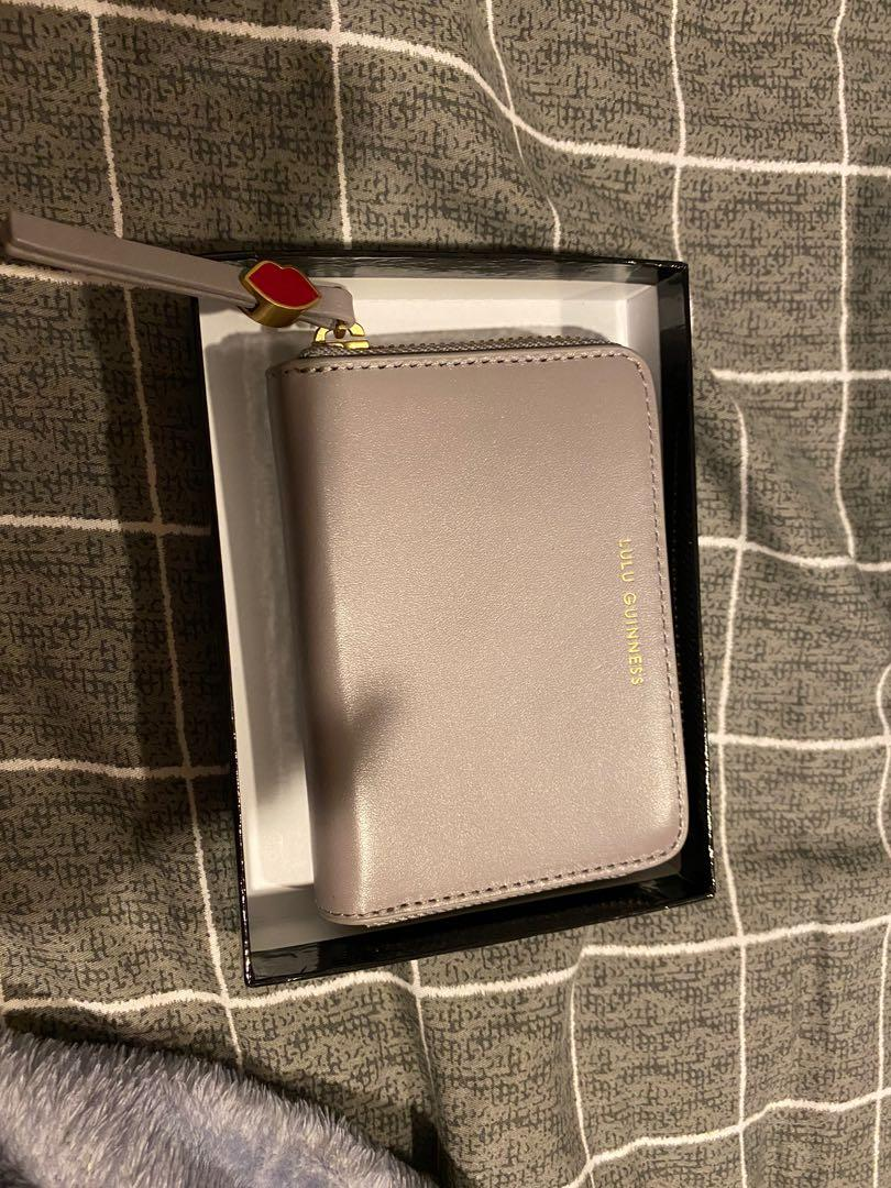 Lulu Guinness small continental wallet in grey BNWT