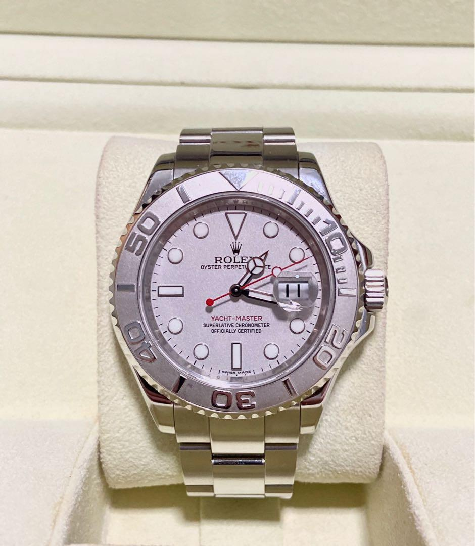 Mint Rolex Oyster Yatchmaster Platinum 16622 40mm Rehaut Engraved G serial dated 2011