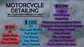 Motorcycle Detailing/Cleaning