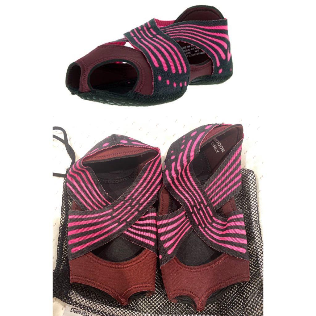 Sepatu Yoga Wanita NIKE STUDIO WRAP 4 Original Dance Night Maroon/Pink Pilates US 8