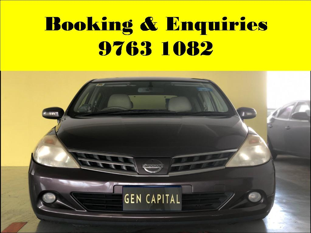 Nissan Latio ! Pre - weekend rental promotion ! PHV or Personal ! cheap and budget car for rent ! Deposit @ $500 only ! Whatsapp 9763 1082 to reserve now !