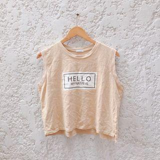 Nude Graphic Tank Top