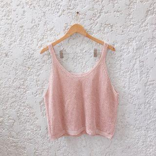 Nude Pink Crochet Cover Up