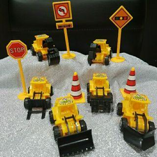 Party Cake Topper: Construction trucks for Party Decoration
