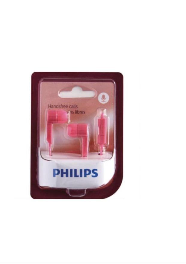 Philips in Ear Headphones with Mic, Earplug, Microphone, Handsfree, Headset, Headphone