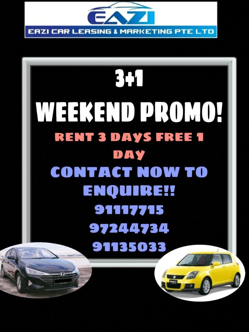 PROMO 3+1 WEEKEND PROMO P PLATE WELCOME