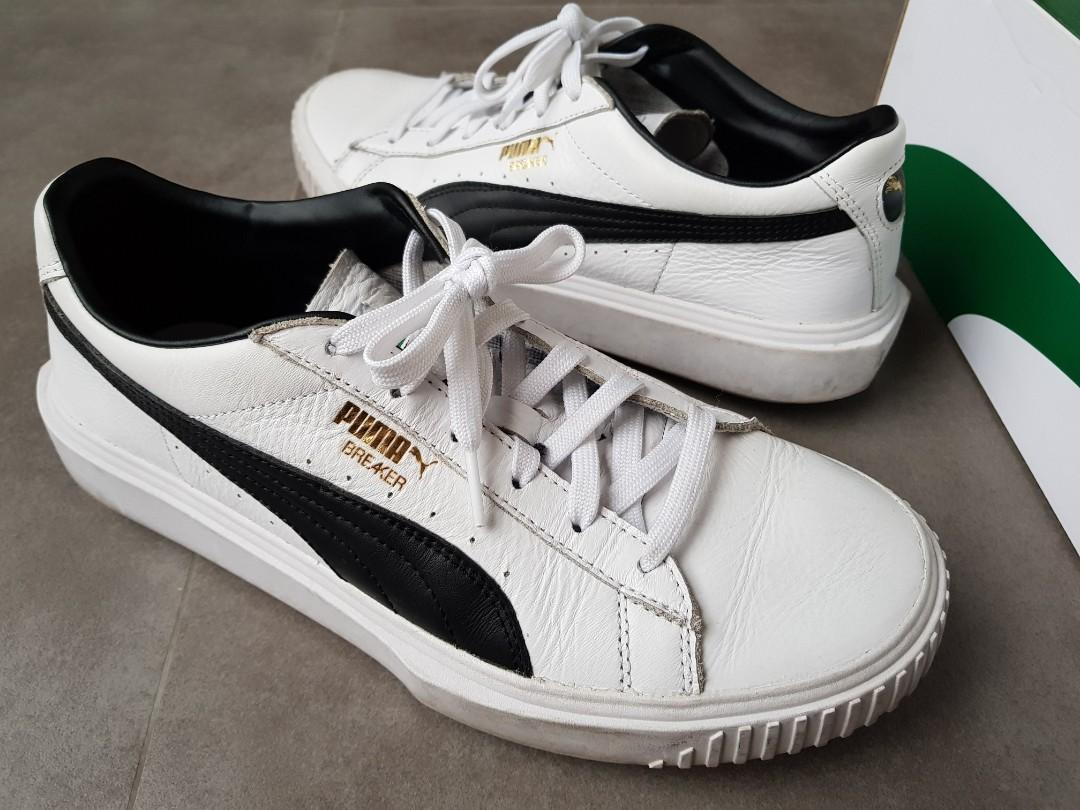 Puma Breaker Leather White, Men's