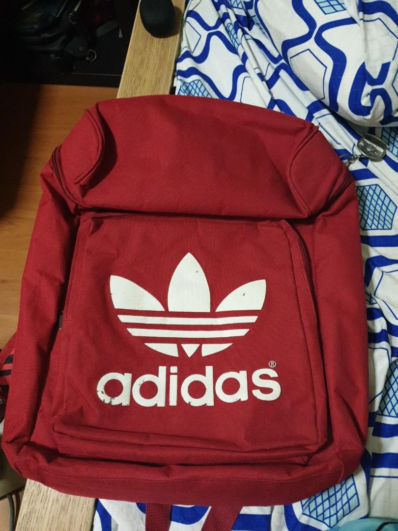 Red adidas bag