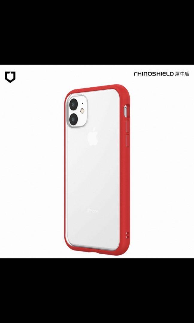 【RhinoShield 犀牛盾】iPhone 11 Mod NX 邊框背蓋兩用手機保護殼 紅色