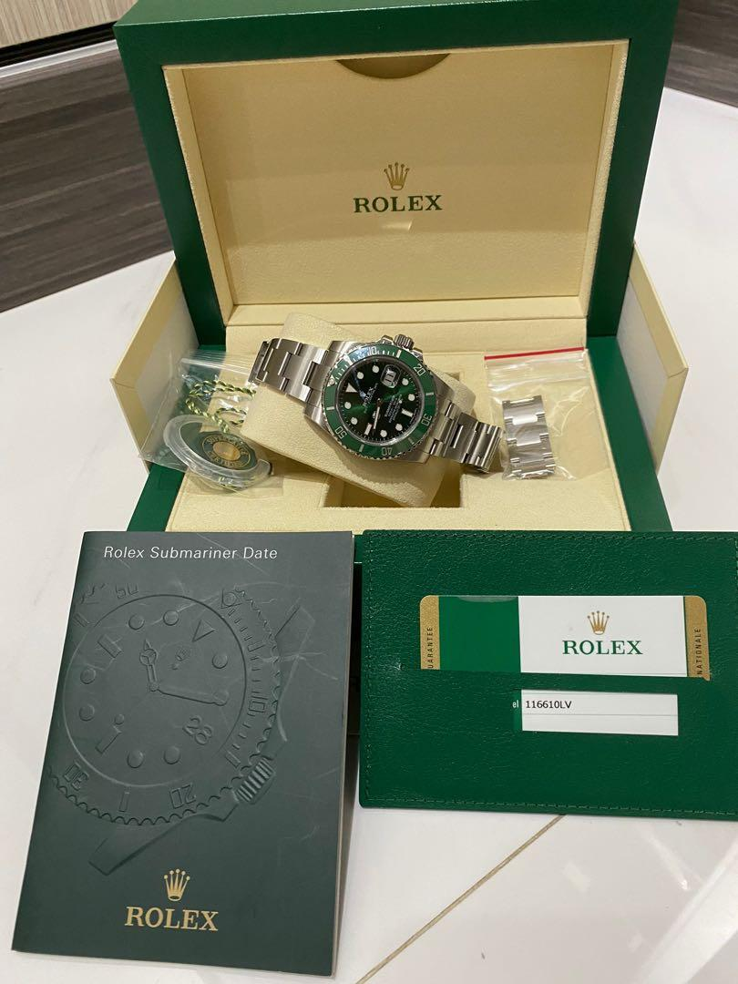 Rolex submarine 116610LV HULK