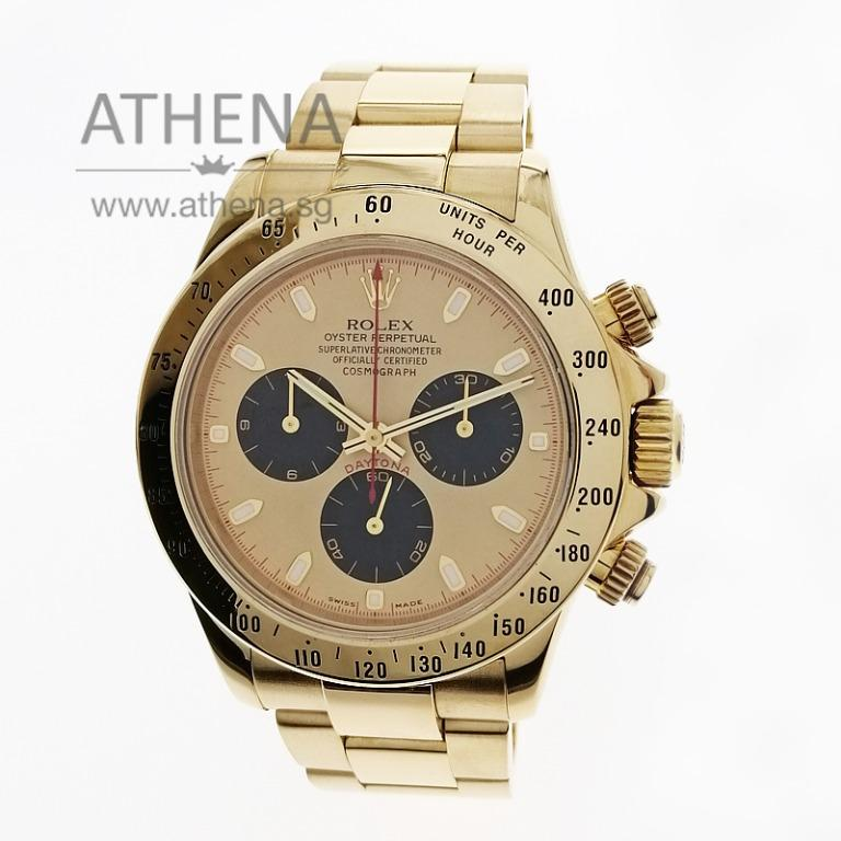 """18K YELLOW GOLD ROLEX COSMOGRAPH DAYTONA """"Y"""" SERIES """"PAUL NEWMAN DIAL"""" WITH RSC PAPER 116528 JGWRL_1120"""