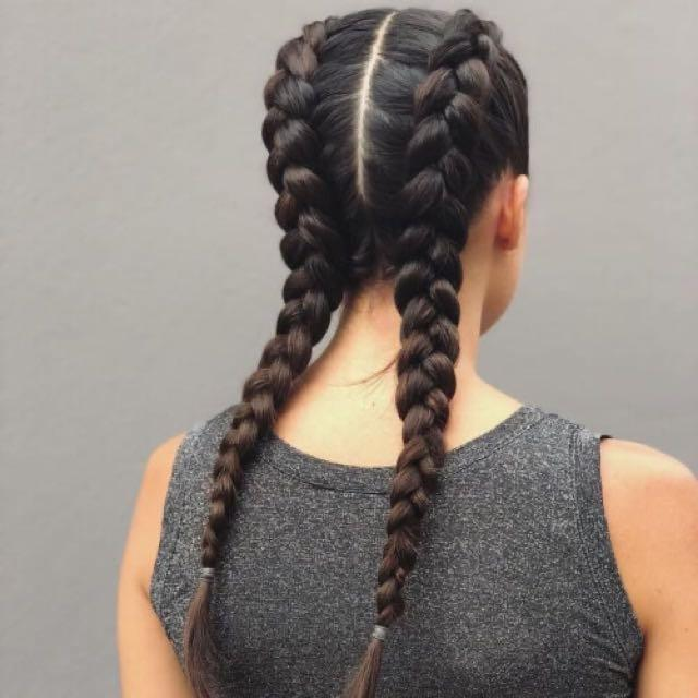 Simple Dutch Braids