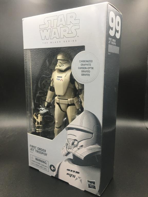 "Star Wars Black Series First Order Jet Trooper 6/"" MIB Exclusive Carbon Graphite"