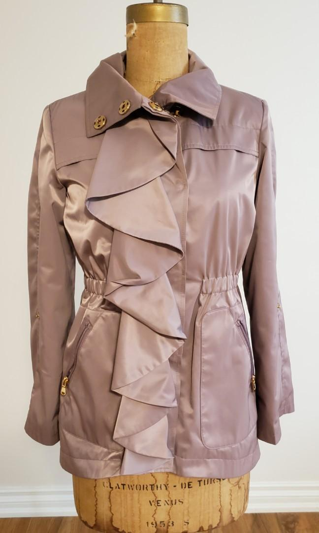 TAHARI Mauve Pink Jacket with Gold Snaps