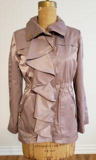 TAHARI Mauve Pink Jacket with Gold Snaps