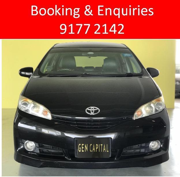 Toyota Wish. rare black.$500 deposit only. Whatsapp 9177 2142 to reserve.Cheap Car Rental. Cheap Car. Budget car.