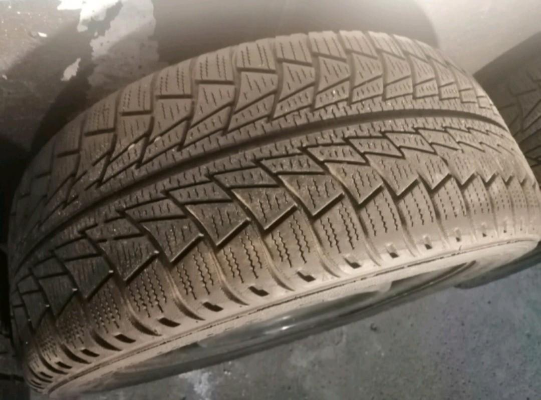 Winter tires with rims very good condition first come first serve