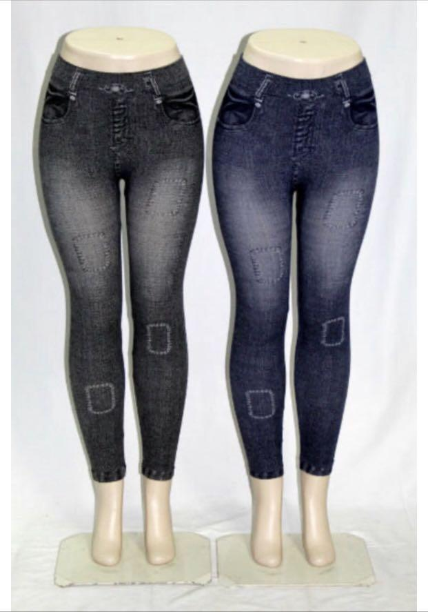 Women's Patched Style Denim  Jeans Tights Leggings
