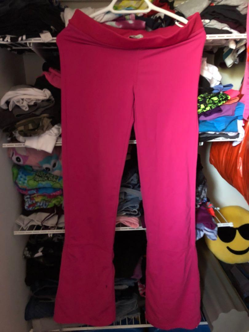 Womens Pink Yoga Pants