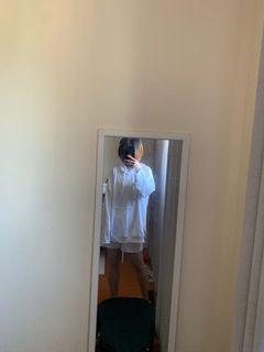Zara oversized white hoodie