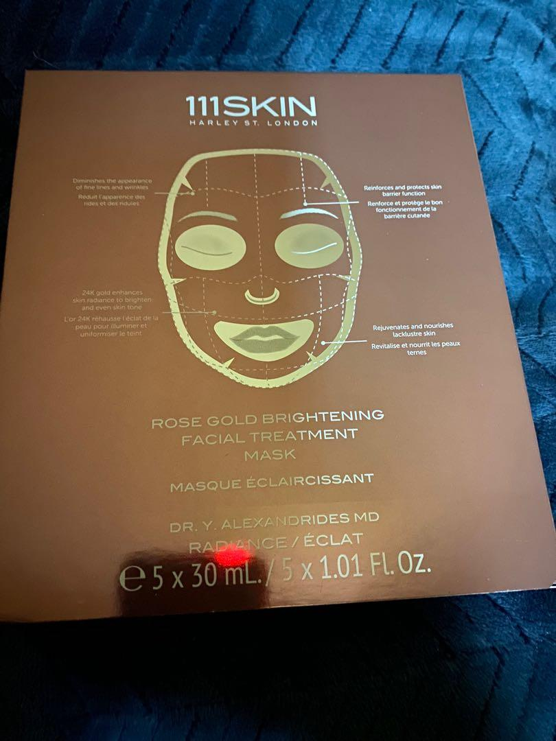 111skin rose gold brightening facial treatment mask