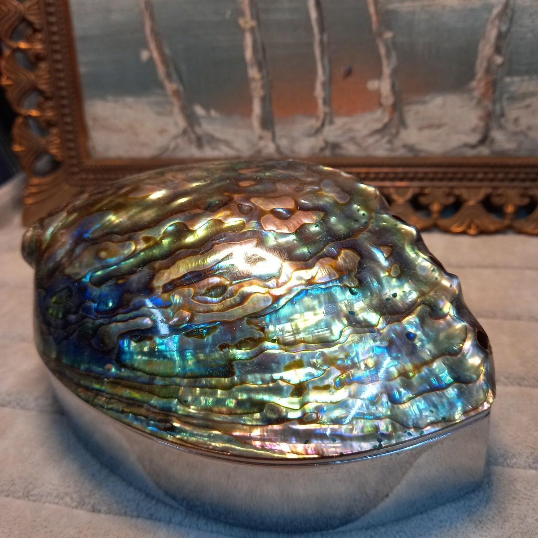 🏞天然珠寶盒飾品盒首飾盒12.5cm×8.5cm×6.5cm, 自收藏