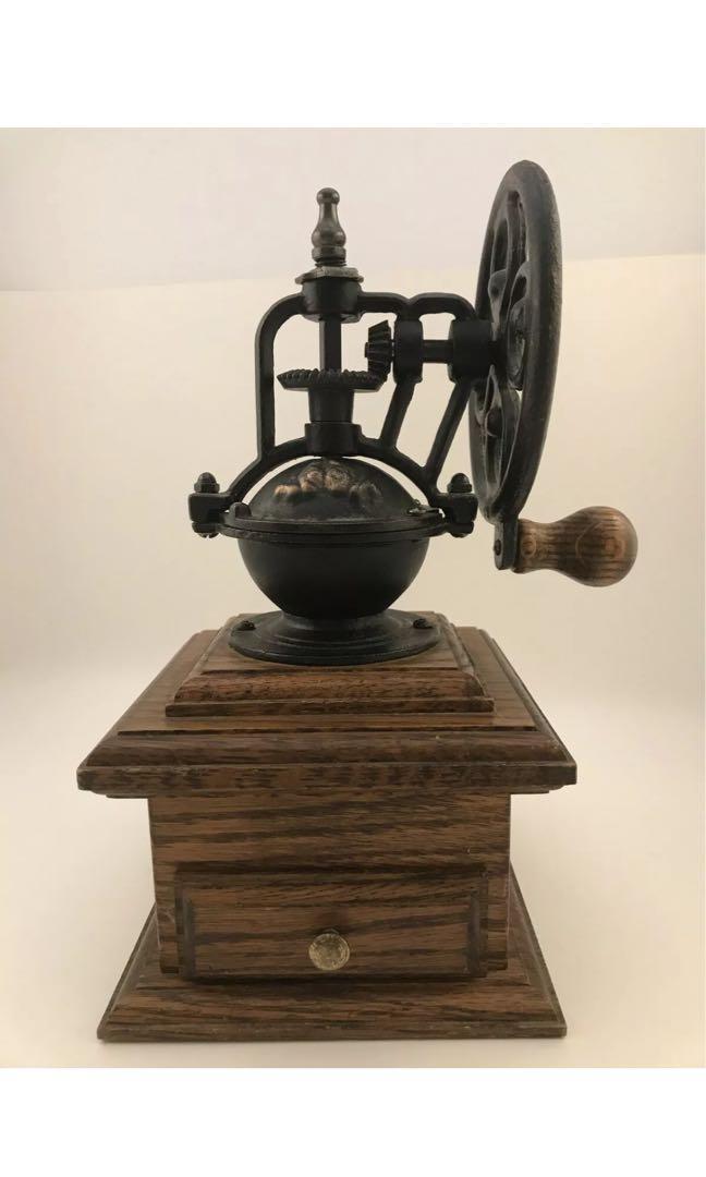 古董鑄鐵實木質感手搖磨咖啡豆機