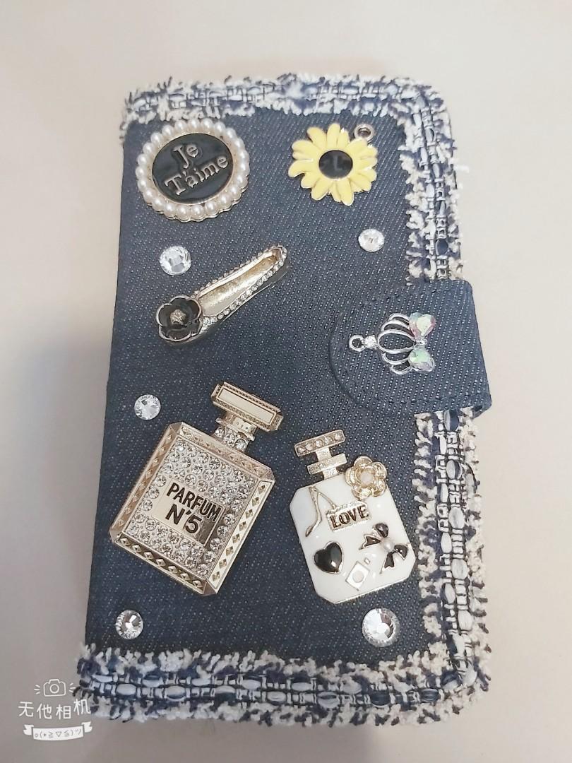 牛仔手工小香飾品手機殼