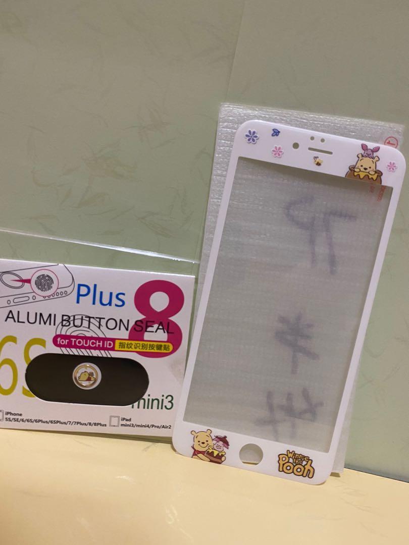 (全新)小熊維尼保護貼+按鍵保護貼