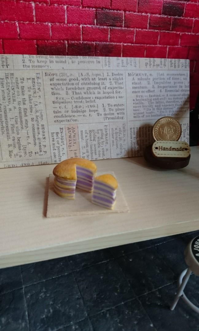 袖珍版 芋頭 芋泥 紫薯 千層蛋糕 切片 純手工製作