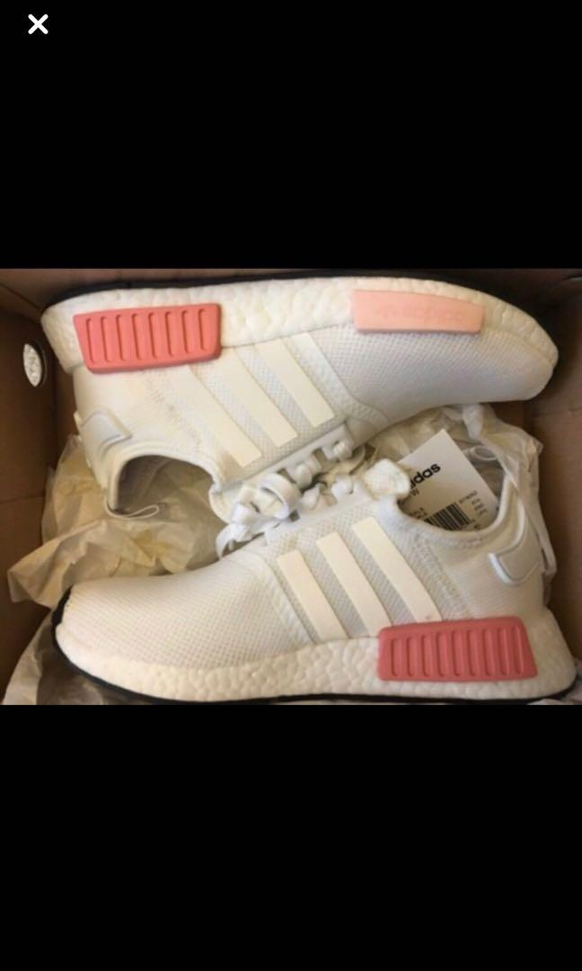 Adidas NMD R1 - White and Pink - US Size 8 - Brand new
