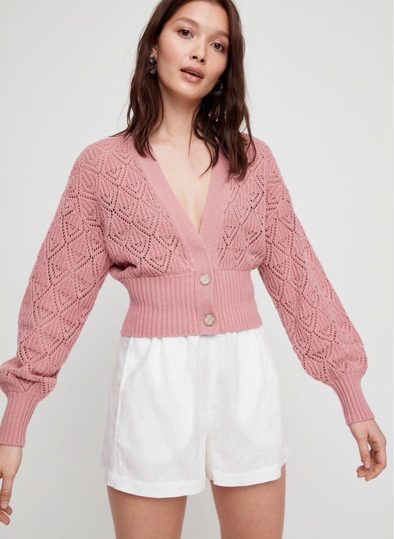 Aritzia Wilfred Thais Pink Cardigan