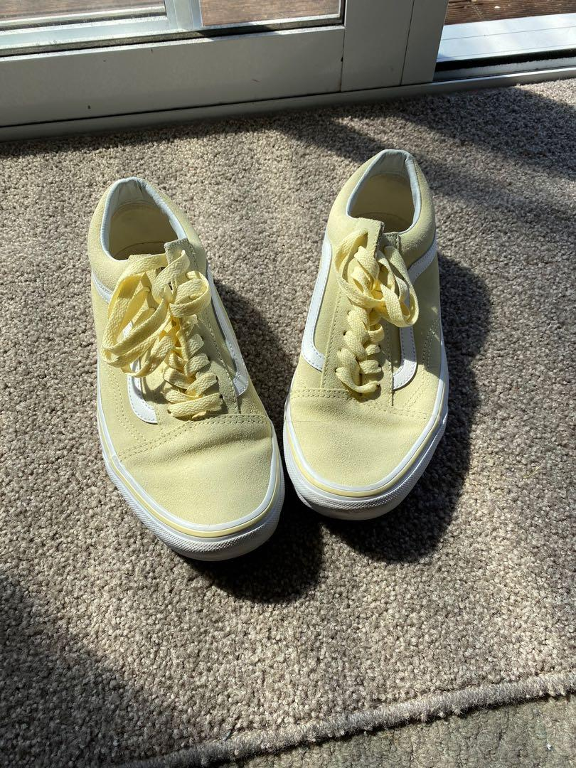 'Baby Yellow' Vans - size 9