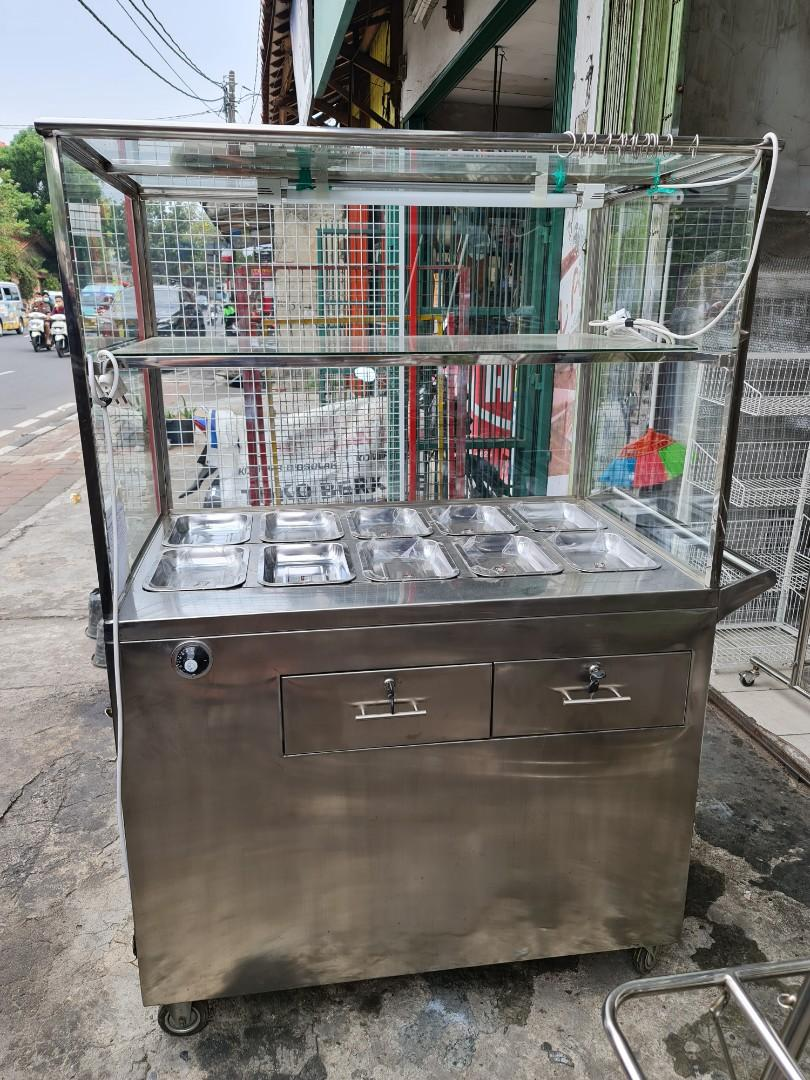 Bain Marie / Fast Food Stainles uk.P.110xL.70xT.167 cm