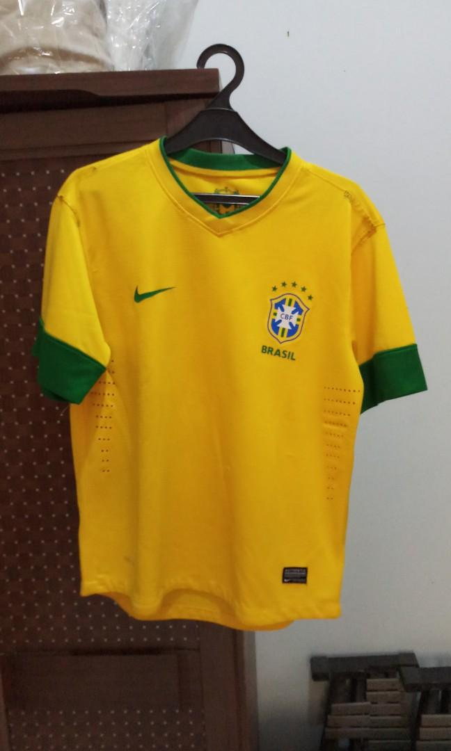 Baju Jersey Bola Futsal Nike Brazil Size S