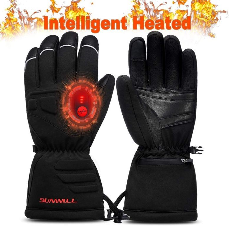 Battery Heated Gloves, Rechargeable. Medium Size