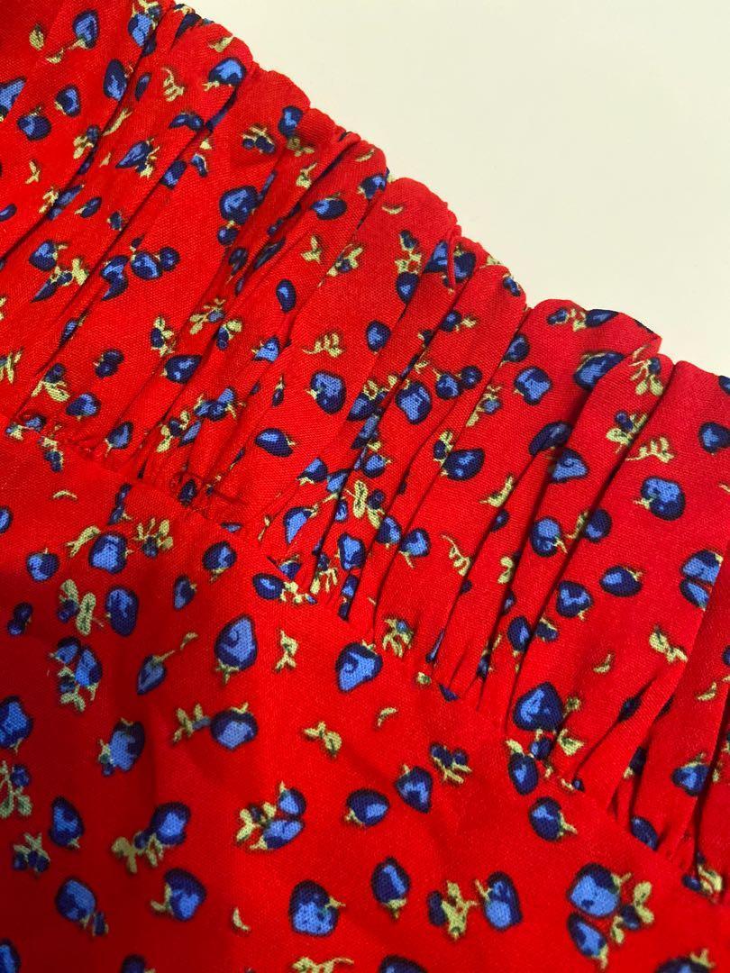 Berry beaut printed mini dress