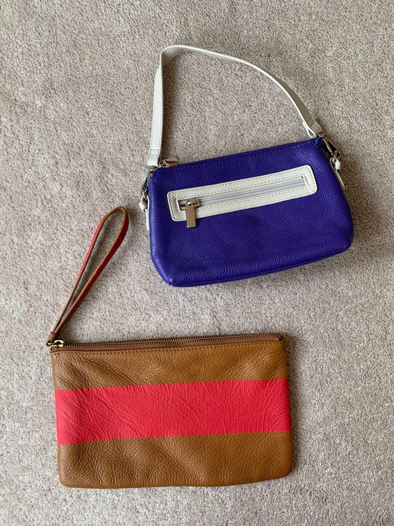 BNWOT Danier Leather Mini Bag & Wristlet