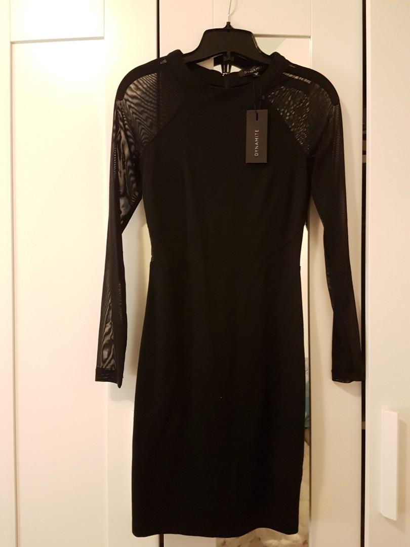 Meshed Bodycon dress
