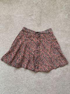 Brand Melville Pink Floral Skirt