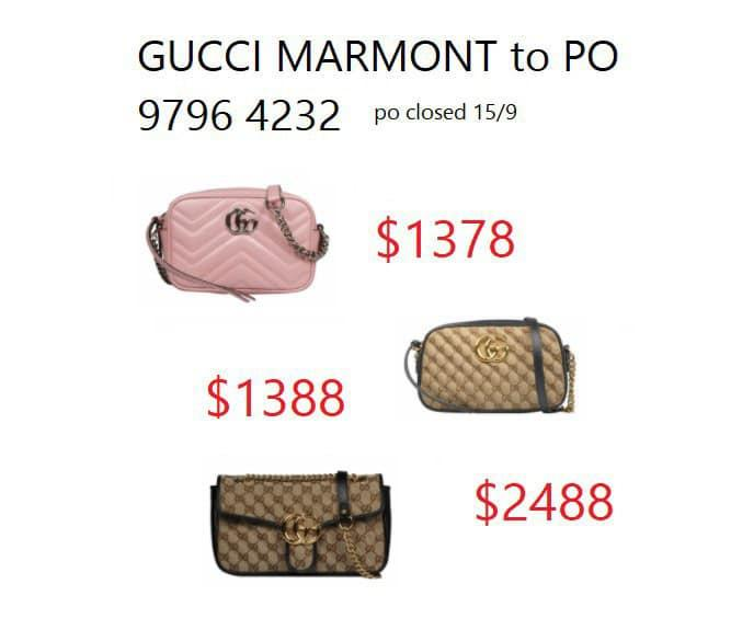 Brand New Authentic Gucci Marmont Bags to PO