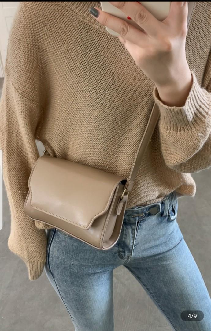 Brand New Sling Bag Size : 18cm x 13cm x 7cm Instock : Beige or Light Brown $10