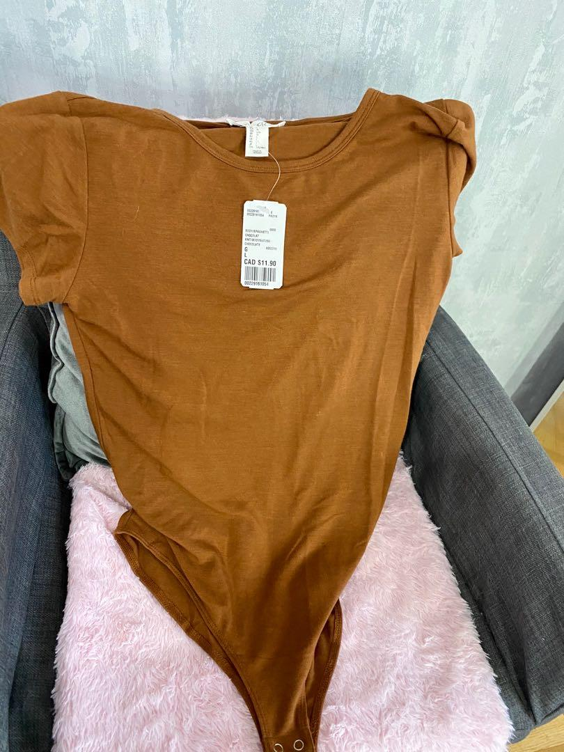 Brown one piece top