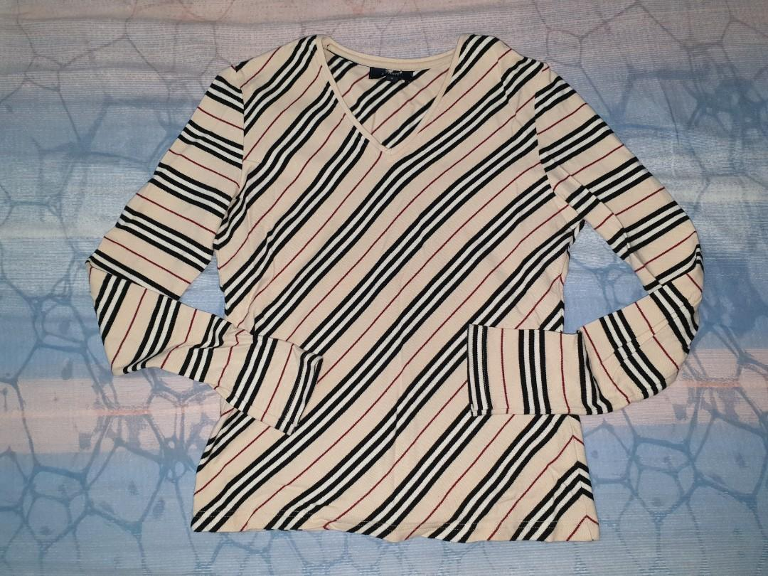 Burberry LS Checkered Top